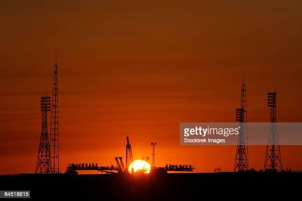 The Soyuz launch pad.