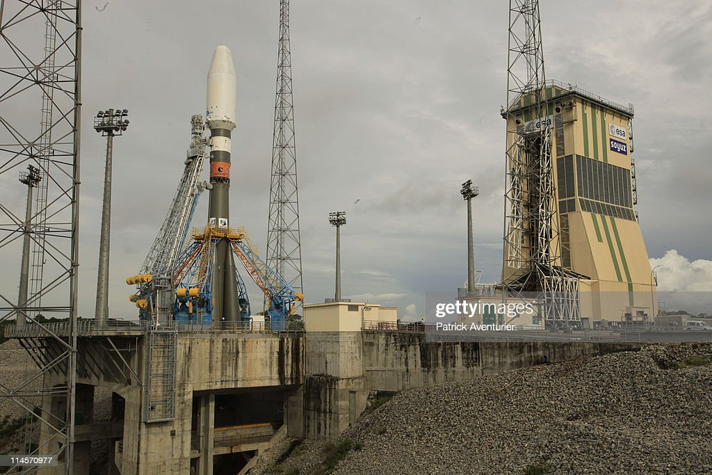 Russia Builds A Soyuz Launcher in French Guiana : News Photo
