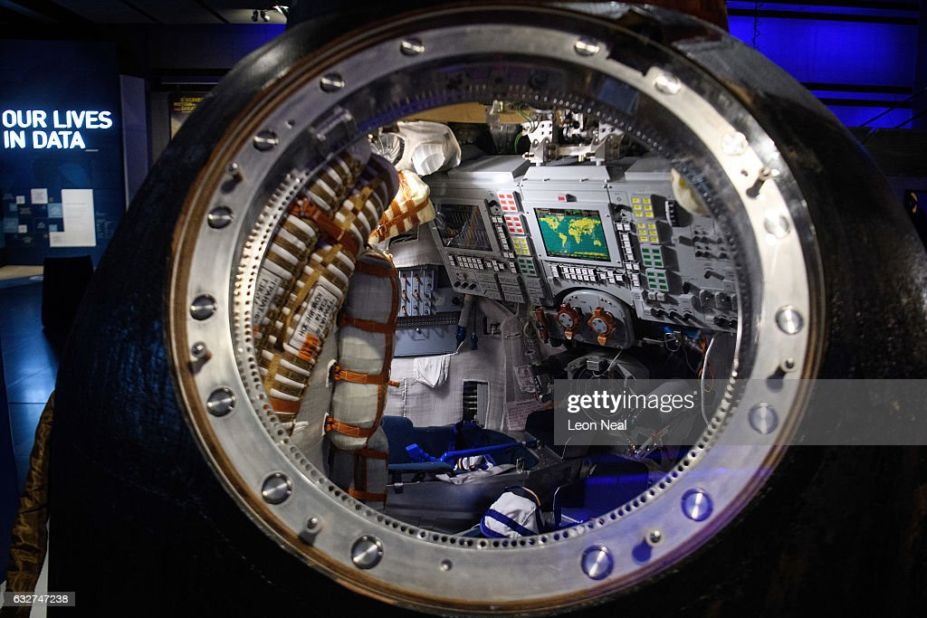 Tim Peake's Spaceship Is Installed At The Science Museum : News Photo