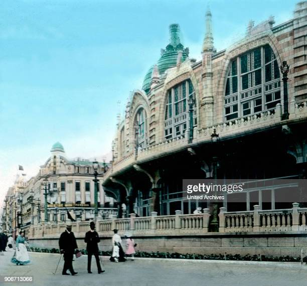 The spa resort at Oostende in Belgium. Europe, Belgium, travel, history, historical, 1910s, 1920s, 20th century, archive, Carl Simon, people, spa,...