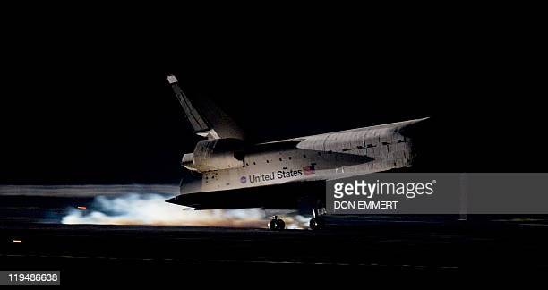 The space shuttle Atlantis lands on July 21 2011 at Kennedy Space Center in Florida ending its 13day mission Atlantis safely touched down bringing an...