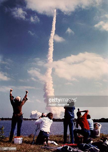 The Space Shuttle Challenger lifts off from the launch pad at Kennedy Space Center in Florida on the day it took America's first female astronaut...
