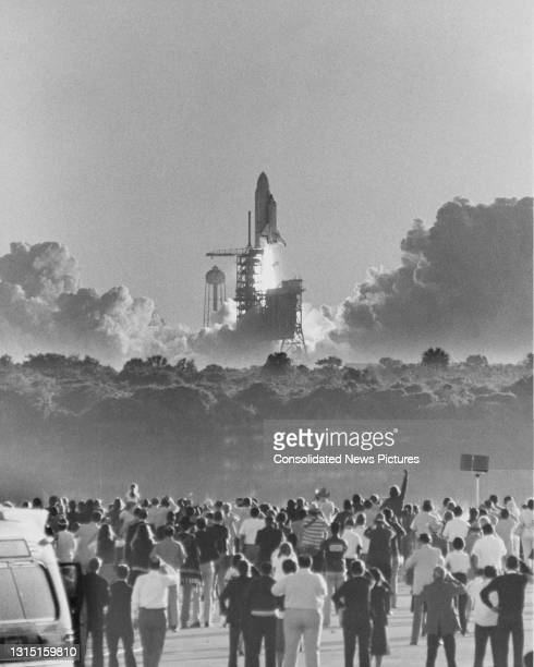 The Space Shuttle Columbia lifts off from the Kennedy Space Center, Florida, US, 12th April 1981.