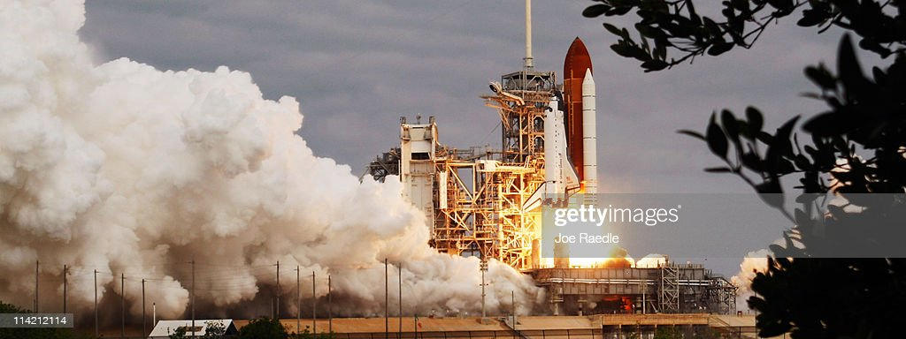 The space shuttle Endeavour lifts off from Launch Pad 39A at the Kennedy Space Center, on May 16, 2011 in Cape Canaveral, Florida. Endeavour is on its final flight to the International Space Station before being retired and donated to the California Science Center in Los Angeles.