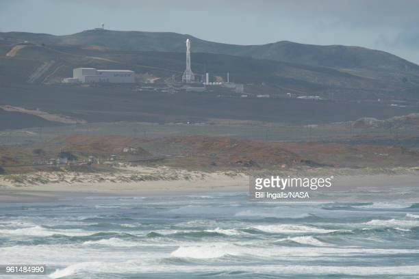 The SpaceX Falcon 9 rocket is seen with the NASA/German Research Centre for Geosciences GRACE FollowOn spacecraft onboard Tuesday May 22 at Space...