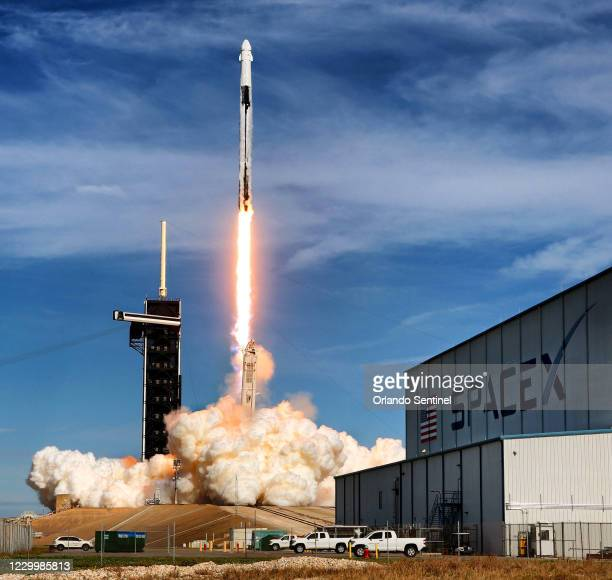 The SpaceX Falcon 9 rocket lifts off from Launch Complex 39-A at Kennedy Space Center, Fla., carrying the CRS-21 Cargo Dragon 2 capsule, Sunday,...