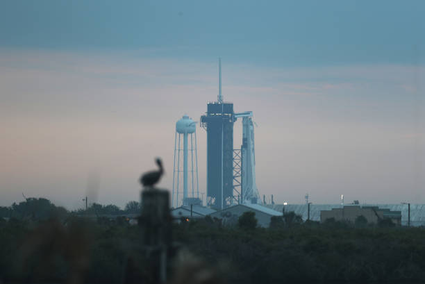 FL: SpaceX Falcon-9 Rocket And Crew Dragon Capsule Launches From Cape Canaveral Sending Astronauts To The International Space Station