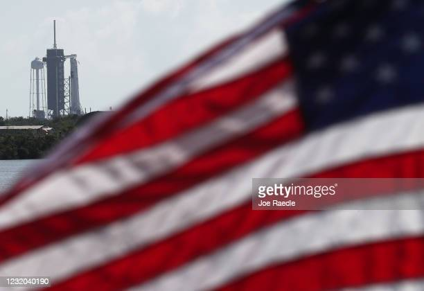 The SpaceX Falcon 9 rocket with the Crew Dragon spacecraft attached is seen on launch pad 39A at the Kennedy Space Center on May 29 2020 in Cape...