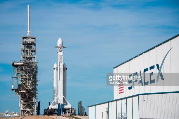 The SpaceX Falcon Heavy rests on Pad 39A at the Kennedy Space Center in Florida, on February 5 ahead of its demonstration mission. - SpaceX is poised...