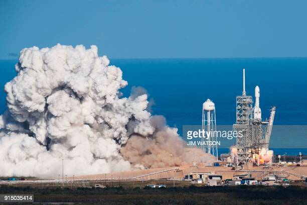 The SpaceX Falcon Heavy takes off from Pad 39A at the Kennedy Space Center in Florida on February 6 on its demonstration mission The world's most...