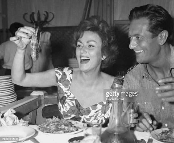 The Spanish actor Alberto Closas and the Roman actress Nadia Gray Madrid Spain