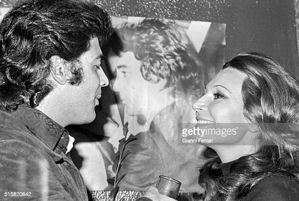 The Spanish actor Maximo Valverde and the Spanish singer Rocio Jurado 1973 Madrid Spain