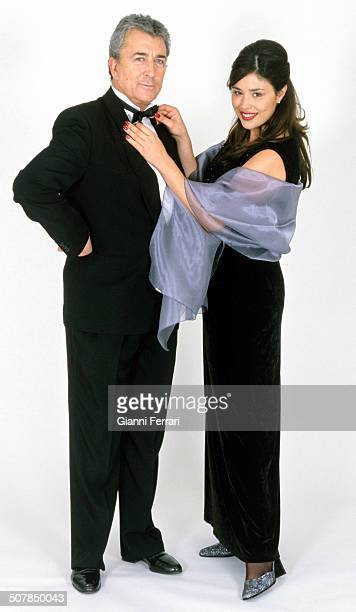 The Spanish actor Paco Valladares in a photoshoot with the Spanish TV presenter Minerva Piquero Madrid Spain