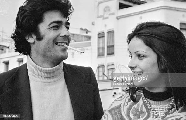 The Spanish actors Maximo Valverde and Amparo Munoz Madrid Spain