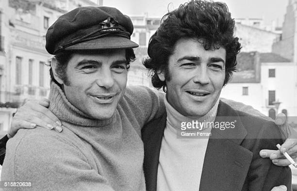 The Spanish actors Maximo Valverde and Juan Luis Gallardo Madrid Spain