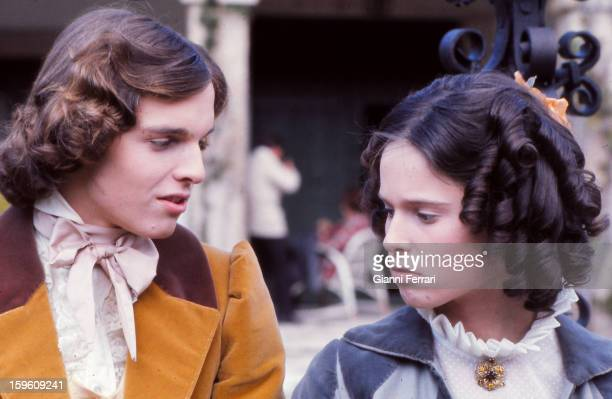 The Spanish actors Miguel Bose and his sister Paola during the filming of the movie 'Vera' Madrid Castilla La Mancha Spain