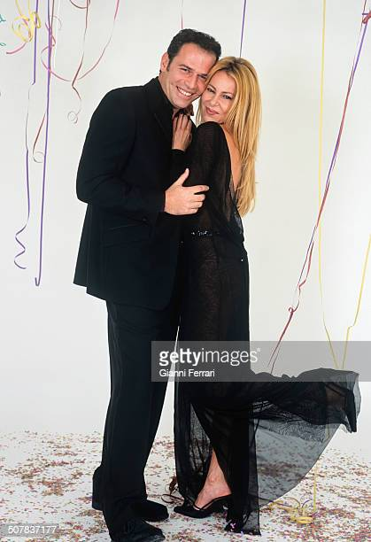 The Spanish actress Ana Garcia Obregon and the Spanish TV presenter Carlos Lozano in a photo shoot 5th December 2000 Madrid Spain
