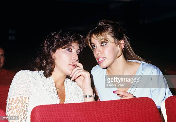 The Spanish actress and singer Norma Duva l with her sister Carla Madrid Spain