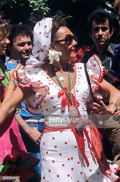 The Spanish actress and singer Paquita Rico at the 'Feria de Sevilla' Sevilla Spain