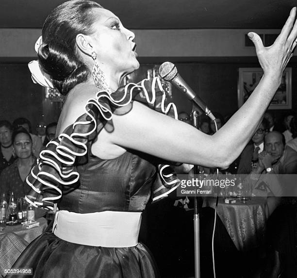 The Spanish actress and singer Paquita Rico during a performance Madrid Spain