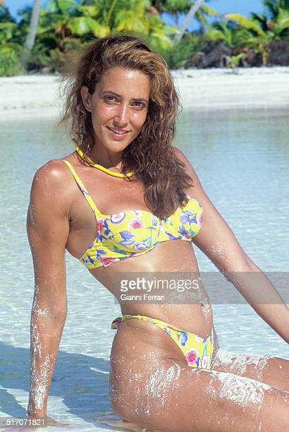 The Spanish actress and television presenter Elsa Anka on the island of Moorea 2nd July 1997 Polynesia