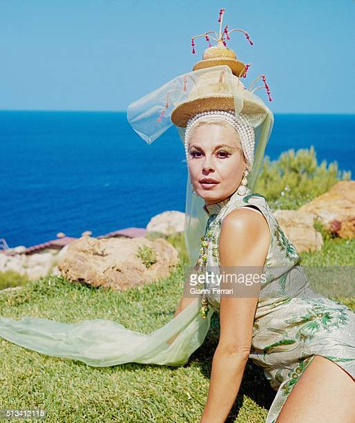 The Spanish actress and TV presenter Laura Valenzuela on a photo shoot Marbella Andalusia Spain