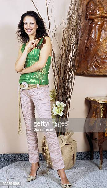 The Spanish actress and TV presenter Silvia Jato in a photo shoot 16th December 1999 Madrid Spain