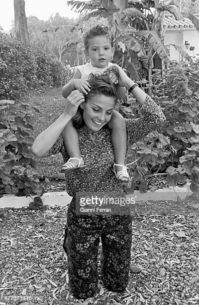 The Spanish actress Carmen Sevilla with her son Augusto Madrid Spain