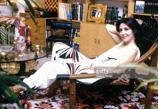 The Spanish actress Concha Velasco at her home in Madrid 27th June 1980 Madrid Spain