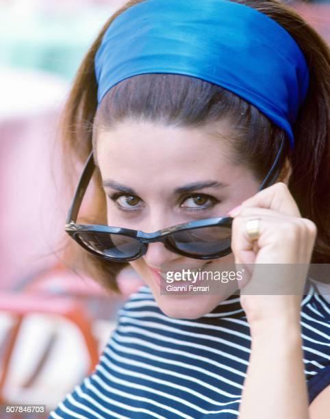 "The Spanish actress Concha Velasco in a photo shoot in the ""Plaza de Espana"" Madrid Spain"