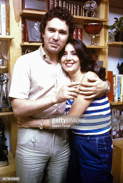 The Spanish actress Concha Velasco with her husband the Spanish actor Paco Marso 27th June 1980 Madrid Spain