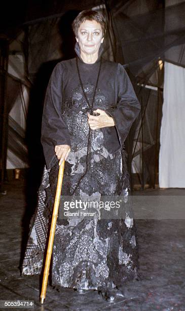 The Spanish actress Maria Casares in the play 'The Adefesio' 21st November 1976 Madrid Spain