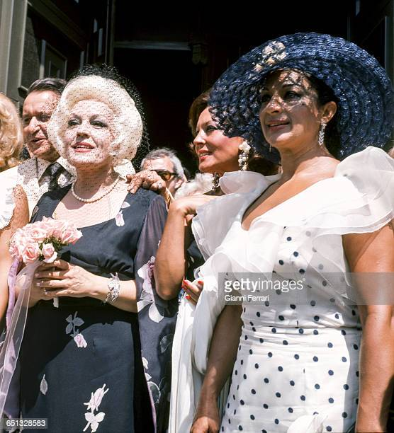 The Spanish actress Mercedes Vecino and the Spanish actress singer and dancer Lola Flores Madrid Spain