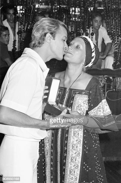 The Spanish actress Rocio Durcal with her husband the singer Antonio Morales Junior Madrid Spain