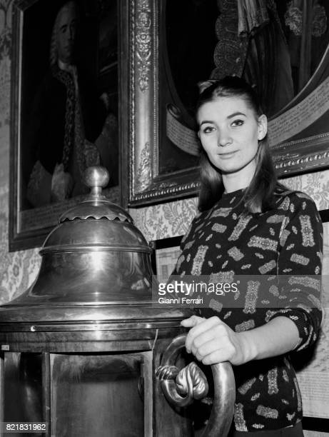 The Spanish actress Sonia Bruno at the Naval Museum Madrid Spain