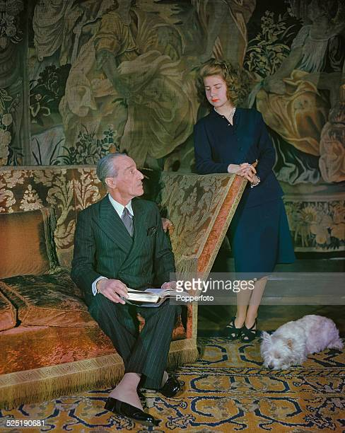 The Spanish ambassador in London Jacobo FitzJames Stuart 17th Duke of Alba with his daughter Cayetana FitzJames Stuart The Duchess of Aliaga London...