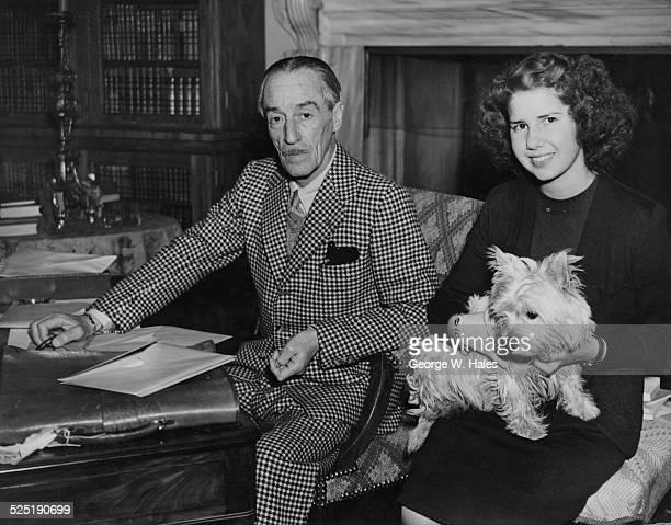 The Spanish ambassador in London Jacobo FitzJames Stuart 17th Duke of Alba with his daughter Cayetana FitzJames Stuart The Duchess of Aliaga at...