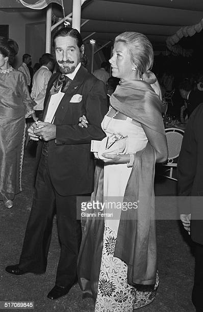The Spanish aristocrat Jaime de Mora y Aragon brother of Queen Fabiola of Belgium with his wife Margit Marbella Malaga Andalusia Spain