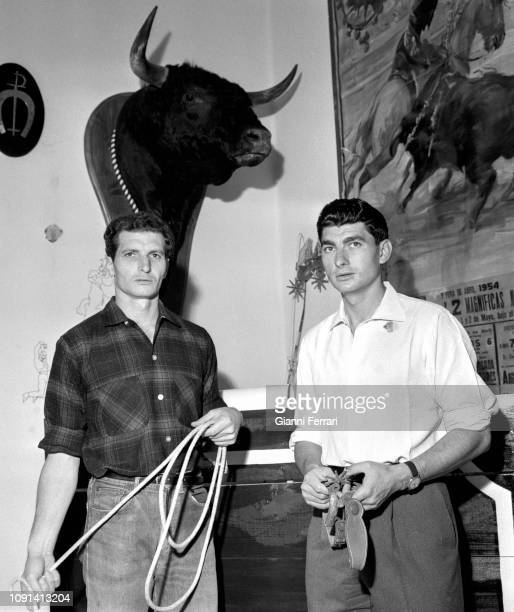 The Spanish brothers bullfighters Rafael and Angel Peralta Sevilla Spain