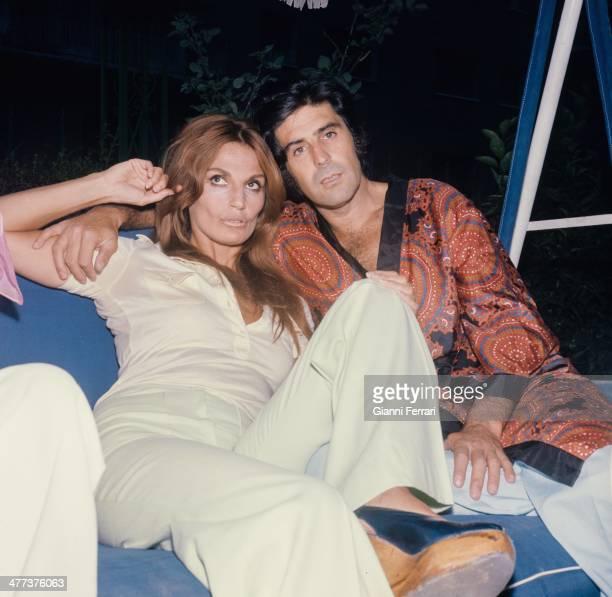 The Spanish bullfighter Jaime Ostos with his girlfriend the Argentina actress Lita Trujillo Madrid Spain