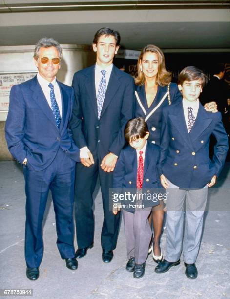 The Spanish bullfighter Palomo Linares with his family Madrid Spain