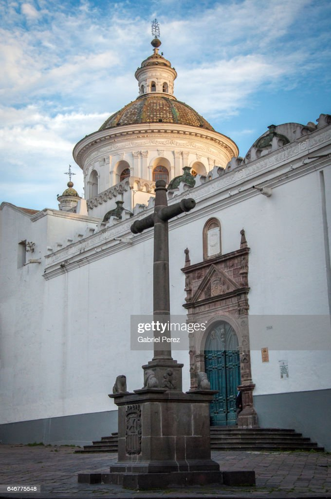 The Spanish Colonial Architecture Of Quito Ecuador Stock Photo
