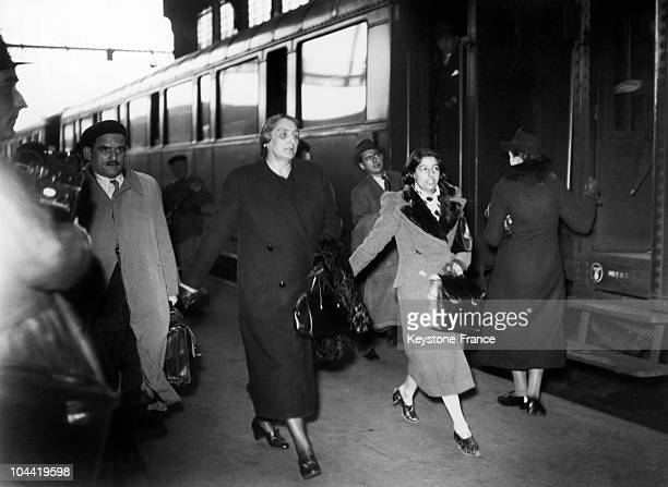 The Spanish Communist And Republican Leader Dolores Ibarruri Surnamed La Pasionaria Arrived At The Lyon Train Station In Paris On March 9 After...