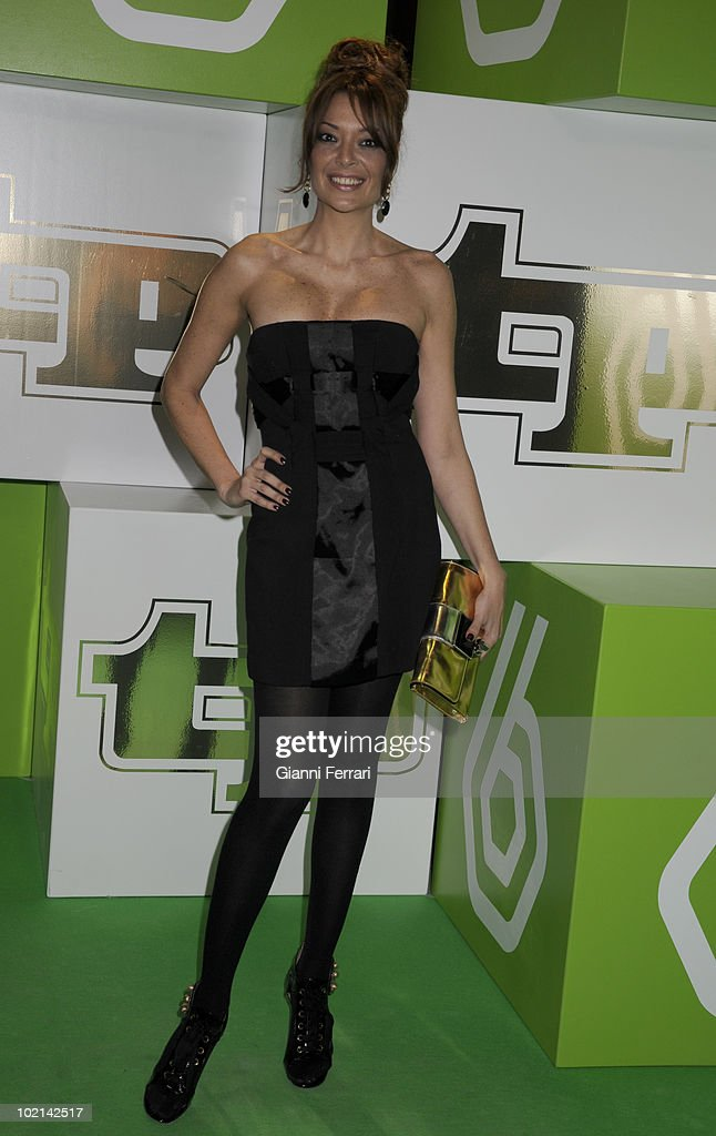 The spanish dancer and Tv presenter Lucia Hoyos to the delivery of the awards 'TP of Gold' for the best presenters, actors and programs of the Spanish televisions, 10 February 2009, 'Palacio de Congresos', Madrid, Spain.