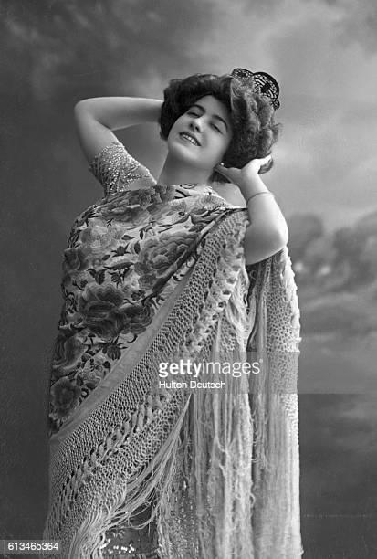The Spanish dancer Delgaza in 1920