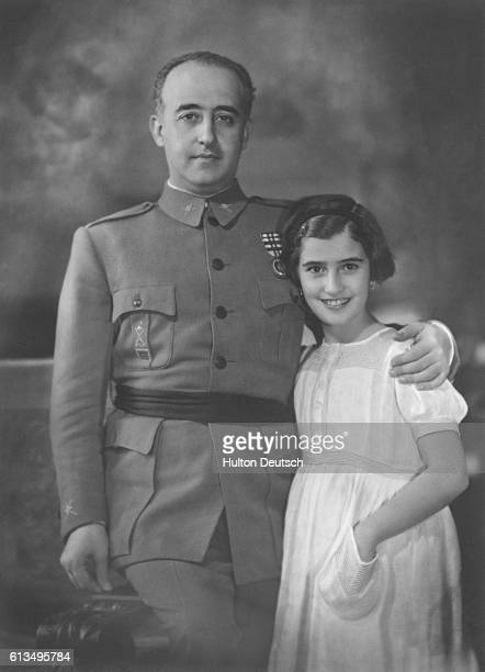 The Spanish dictator General Francisco Franco with his daughter Spain ca 1935