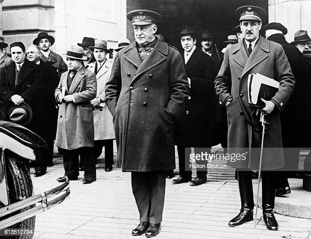 The Spanish dictator General Primo de Rivera leaves the Royal Palace in Madrid after tendering his resignation | Location Madrid Spain