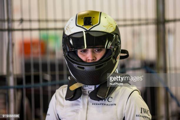 The Spanish driver Carmen Jorda member the FIA Womens commission during a test of the Euroformula Open F3 with Porteiro Motorsport team at Circuit de...