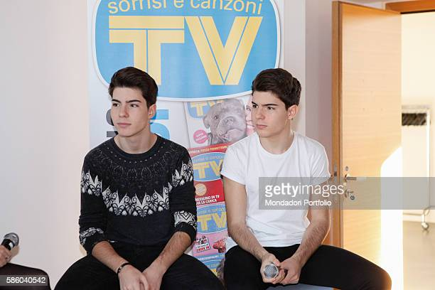 The Spanish duo Gemeliers composed by twins Daniel and Jesús Morilla Oviedo guests of the editorial staff of TV Sorrisi e Canzoni to present their...