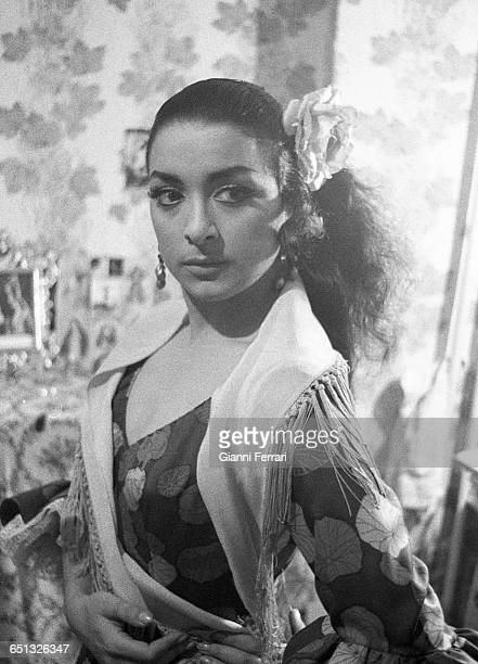 The Spanish flamenco singer and dancer Lola Flores 1965 Madrid Spain